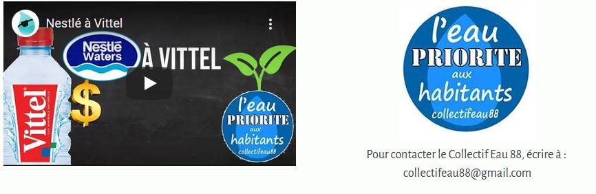 Vittel Nestlé : Bilan 2020 par L'eau qui mord