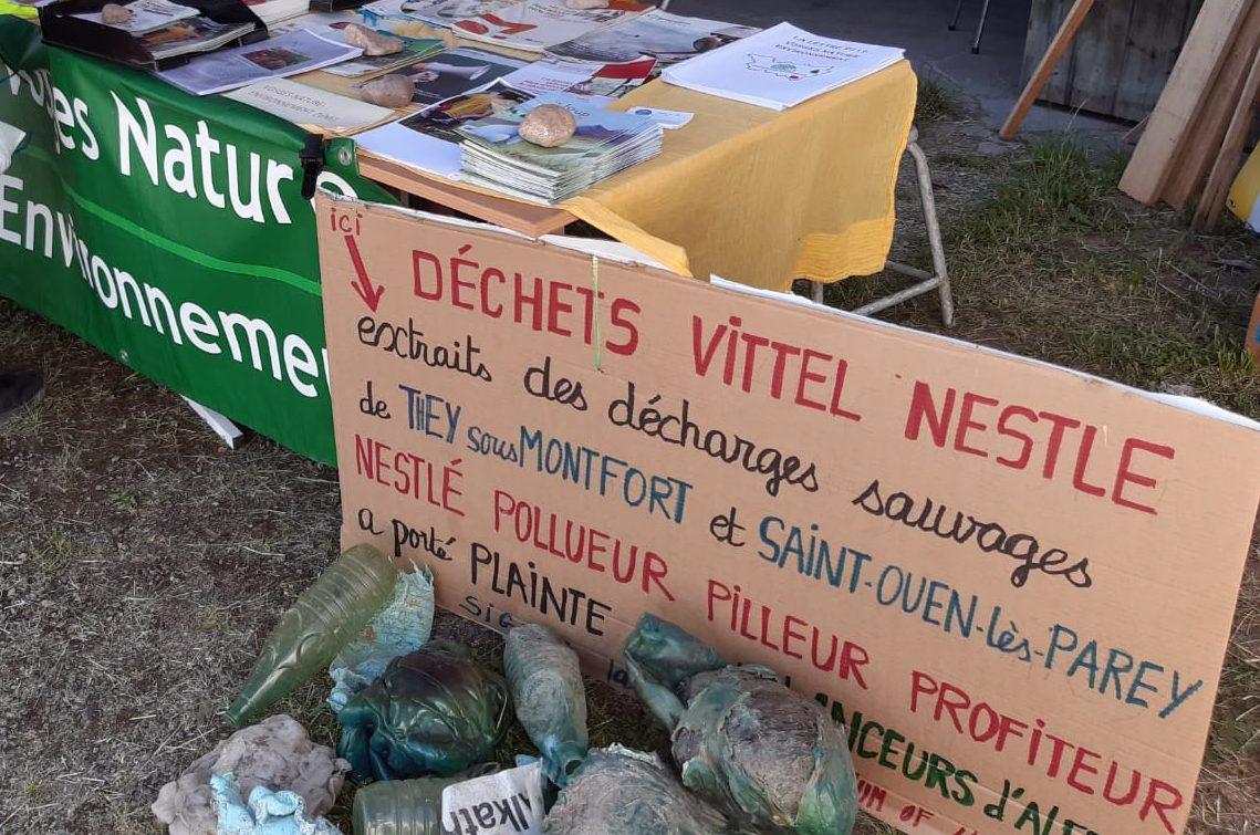 Neuf décharges Nestlé autour de Vittel: la presse en parle!